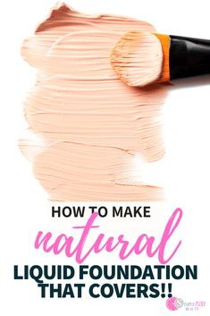 It's so easy to make your own DIY Foundation! Learn how to make homemade foundation powder and liquid foundation with these simple recipes! How To Make Foundation, Diy Makeup Foundation, Homemade Foundation, Organic Foundation, Liquid Foundation, Powder Foundation, Drugstore Foundation, Homemade Mascara, Homemade Cosmetics