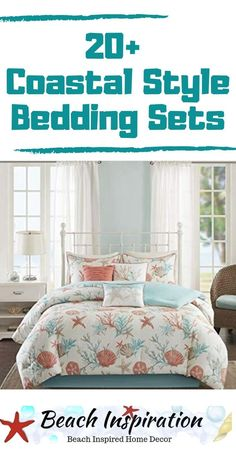 20 Coastal Bedding Sets For Beach Themed Bedroom Coastal. - 20 Coastal Bedding Sets For Beach Themed Bedroom Coastal Bedding Sets For B - Beach Bedding Sets, Coastal Bedding, Coastal Bedrooms, Comforter Sets, Bedroom Modern, Shabby Chic Pink, Beach Cottage Decor, Coastal Decor, Coastal Cottage
