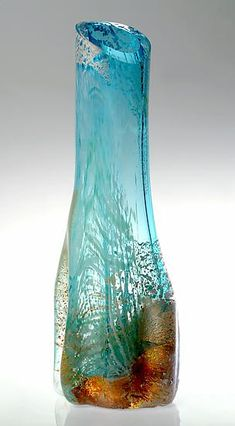 Glacier: Randi Solin: Art Glass Sculpture - Artful Home
