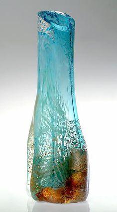 Glacier: Randi Solin: Art Glass Sculpture - Artful Home