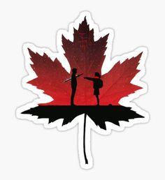 'The Original Goblin Maple Leaf' Sticker by mattskilton Goblin Kdrama Poster, Goblin Kdrama Fanart, Goblin Kdrama Quotes, Boys Over Flowers, Goblin The Lonely And Great God, Goblin Korean Drama, Goblin Art, Pop Stickers, Donia