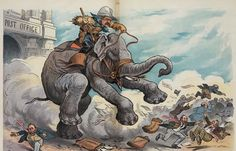 z- Theodore Roosevelt- Elephant Warrior (GOP vs Postal Corruption), 1903