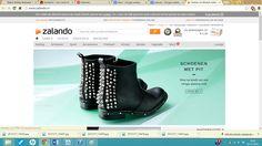 Deze website van Zalando ziet er een beetje hetzelfde uit als van andere webwinkels. de lay-out is simpel maar overzichtelijk. door het begin plaatje te laten rouleren van dames/heren tot kinderschoenen is het gelijk duidelijk wat hier te halen is.