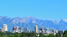 Photo: Salt Lake City, Utah. Credit: Garrett; Wikimedia Commons. Townhomes For Rent, Mountain City, Low Maintenance Landscaping, Salt Lake City Utah, Rain Garden, Grand Mosque, Best Places To Live, City Landscape, The Good Place