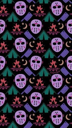 """Halloween Wallpaper Patterns Guess what day it is tomorrow? MY BIRTHDAY! Oh, and Friday the of corpes. Get ready with my new """"Camping with JV"""" pattern. Feel free to save as your phone lock screen. *For Personal Use ONLY. Halloween Wallpaper Iphone, Fall Wallpaper, Halloween Backgrounds, Screen Wallpaper, Wallpaper Backgrounds, Iphone Wallpaper, Iphone Backgrounds, Halloween Horror, Cute Halloween"""