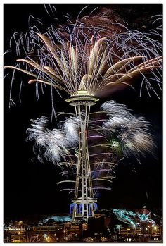 Space Needle Fireworks by wpfphotos on Flickr