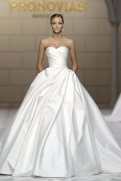Stunning Atelier Pronovias Wedding Dresses - MODwedding This is utterly elegant and graceful. I love it.