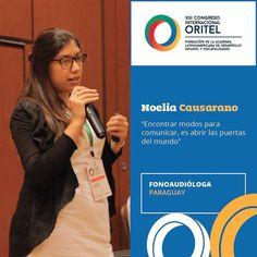 La Lic. Noelia Causarano fonoaudióloga paraguaya compartió sus reflexiones en el Taller de Comunicación Aumentativa. #CongresoORITEL