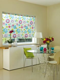 Atlas Disco Patterned Roller Blind - Fully Made To Measure from - £38 . Vibrant and funky adding life to a room. Many more at www.orderblinds.co.uk. Follow us now to see what else we`re up to, thanks : )
