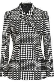 Alexander McQueenPrince of Wales check jacquard double-breasted blazer