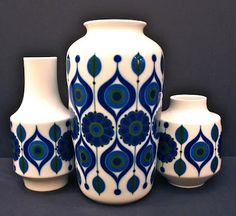 "The End of History - West German porcelain by Kaiser, 1960s.  9.5"", 12"" & 6.5"" tall."