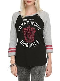 8dc5a7167 Harry Potter Gryffindor Quidditch Team Captain Raglan Top – Listed in  junior sizes. Harry Potter