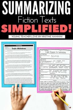 FREE! Graphic Organizers: Summarizing Fiction Texts Simplified! - Help your upper elementary students better learn how to summarize text with the great ideas and activities at this blog post. You get a FREE printable graphic organize for 3rd, 4th, 5th, and 6th grade students. Plus check out the anchor chart and book suggestions. These are sure to make teaching the strategy of summarizing a bit easier! (third, fourth, fifth, sixth graders, home school, homeschool) #GraphicOrganizers Summarizing Anchor Chart, Fiction Anchor Chart, Summarizing Activities, Reading Assessment, Reading Fluency, Reading Passages, Reading Response, Reading Strategies, Reading Groups