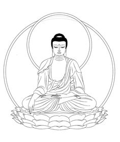 king bouddha adult coloring pages printable and coloring book to print for free. Find more coloring pages online for kids and adults of king bouddha adult coloring pages to print. Buddha Drawing, Buddha Painting, Buddha Kunst, Buddha Art, Art Projects For Adults, Easy Art Projects, Easy Coloring Pages, Coloring Books, Colouring