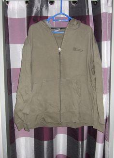 Kaufe meinen Artikel bei #Kleiderkreisel http://www.kleiderkreisel.de/herrenmode/cardigans/108393868-moderne-khaki-farbende-sweatjacke-mit-kapuze