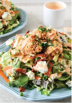 Crunchy Buffalo Chicken Salad with Bacon & Spicy Ranch – The name says it all! This recipe has all of your favorite flavors. It is sure to be a lunch your whole family loves!