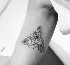Triangle Flower Tattoo - http://gotattooideas.com/triangle-flower-tattoo/
