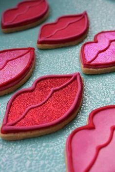 Glitter Lip Cookies