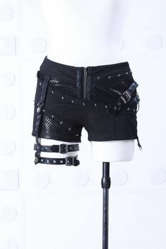 RQ-BL Visual-kei girls punk rock studs buckles shorts Gothic Rave shorts 51013 US $49.00