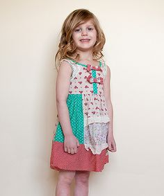 Look at this Cream & Rose Pattern Dress - Girls on today! Toddler Girl Dresses, Girls Dresses, Summer Dresses, Toddler Girls, Girl Dress Patterns, Pattern Dress, Cream Roses, To My Daughter, Soft Fabrics