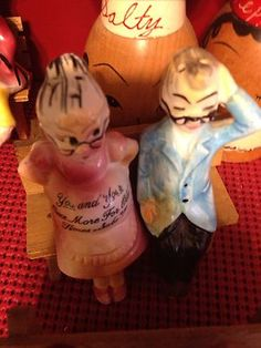 Vintage Old Man Old Woman Couple Salt and Pepper Shakers | eBay