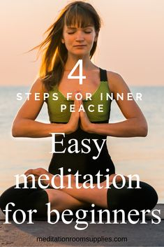 4 steps for inner peace. Easy meditation for beginners. Check out how you learn to meditate fast and easy! 4 steps for inner peace. Easy meditation for beginners. Check out how you learn to meditate fast and easy! Meditation For Anxiety, Easy Meditation, Morning Meditation, Meditation Benefits, Meditation For Beginners, Meditation Techniques, Meditation Quotes, Meditation Space, Meditation Practices