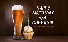Happy Birthday and CHEERS! - Free Birthday Cards, Wishes & Happy Birthday Images with text.