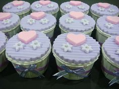 wedding cake cup cake by misscreativecakes, via Flickr
