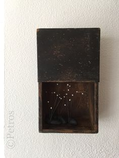 """Dark Thoughts"" mixed media collage box by Petros Titonakis http://www.facebook.com/Pragmata.Gallery"
