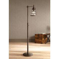 Averill Park Industrial Downbridge Bronze Floor Lamp $149 - 60 watts