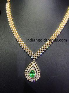 Regal Look Simple Diamond Set Diamond Indian jewelry and Jewel