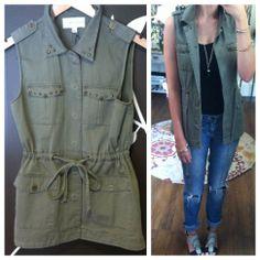 Olive vest ~ $58