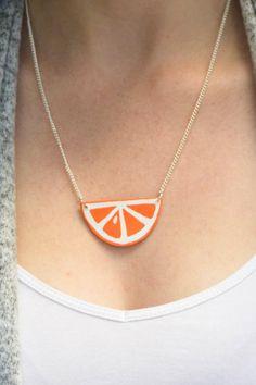 Summer Style Citrus Necklace | Nothing says summer like fresh citrus!
