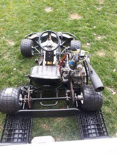 Johnny 5 Ready for his first drive Karting, Drift Go Kart, Cool Go Karts, Go Kart Motor, Drift Trike Frame, Go Kart Frame, Homemade Go Kart, Go Kart Plans, Go Kart Racing