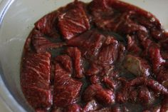 Freakin' Amazing Beef Jerky - It's pretty rare that I call things 'freakin' amazing'. So, now you know if I labeled a recipe as such, then it MUST be good! Beef Jerky Marinade, Beef Jerkey, Jerkey Recipes, Beef Recipes, Recipies, Smoker Recipes, Salmon Recipes, Grilling Recipes, Deer Jerky Recipe