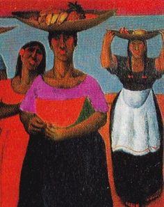 Pintura peruana actual - Ángel Chávez - Cholas fruteras Peruvian Art, Folk, Baskets, Hands, Paintings, Google, Artists, Women, Art