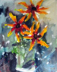 yellow flowers. oil on canvas. 2013