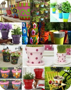Painted Garden Pots