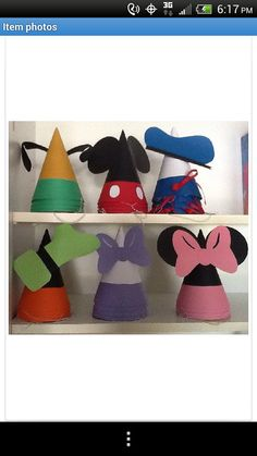 Mickey Mouse Party Hats by MagicalBoutique on Etsy, $30.00