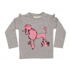 "Soft Gallery - Langarmshirt ""Maddy Pink Poodle"""