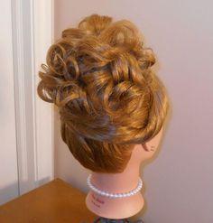 Prom, wedding, bridesmaid, bridal updo hairstyle