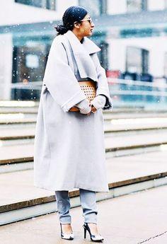 Shop the key piece: Zara Long Sleeve Coat ($100)
