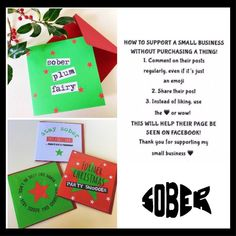 bb2f4178c Christmas sobriety cards. Get your sober badassery on Sober Tool,  Alcoholism Recovery, Wednesday