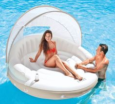 Floating Canopy Sunshade Pool Island