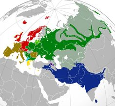 Indo-European languagesbranches map