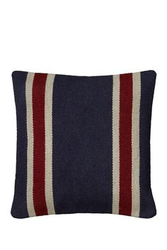 With beautifully subdued hues and a bold, natural pattern, this sham will breathe new life into an old throw pillow and add interest to an easy chair. Add the finishing touch to a perfect living space with this simple but chic accent. Navy Sofa, Navy Pillows, Throw Pillows, Americana Living Rooms, Nautical Home, New Beds, Patterns In Nature, Wool Blend, Pillow Covers