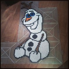 Olaf Frozen perler beads by nerdsareseksi