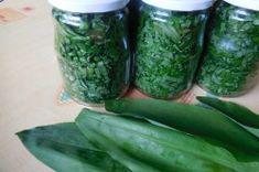 Medvědí česnek - na uskladnění | NejRecept.cz Natural Antibiotics, Natural Herbs, What To Cook, Preserves, Pesto, Pickles, Cucumber, Mason Jars, Food And Drink
