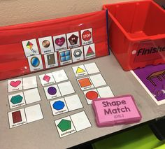 Love this pocket chart for storing task box pieces for special education.