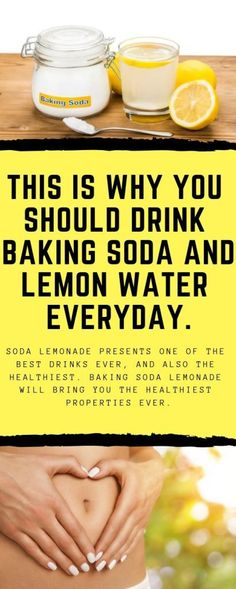 Soda lemonade presents one of the best drinks ever, and also the healthiest. Baking soda lemonade will bring you the healthiest properties ever. beauty health tips 716846465668210631 Baking Soda Water, Baking Soda And Lemon, Baking Soda Shampoo, Baking Soda Uses, Baking Soda For Health, Baking Soda Detox Drink, Drinking Baking Soda, Juice Drinks, Fun Drinks